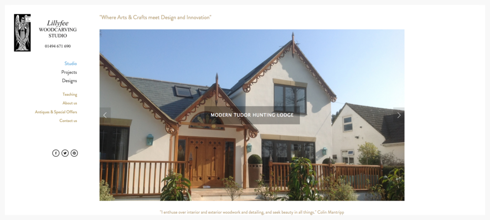 Website Lilyfee Woodcarving Studio view project