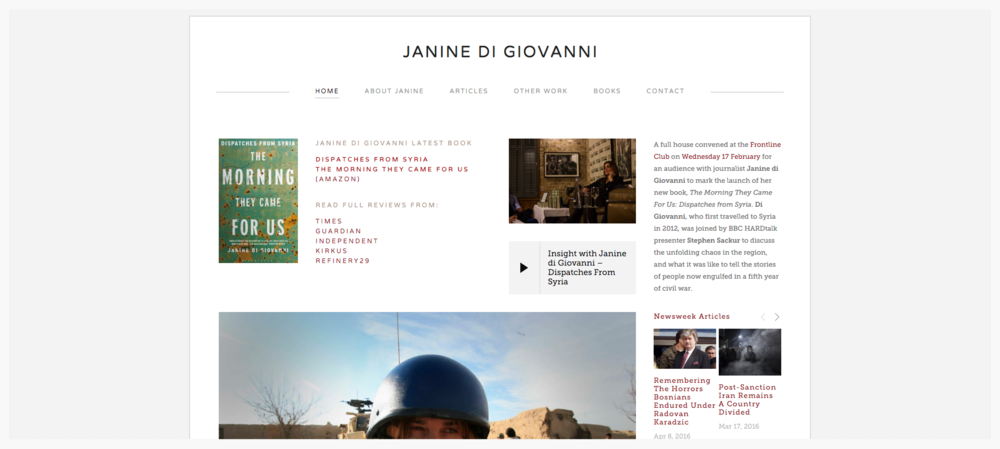 Website Janine di Giovanni view project