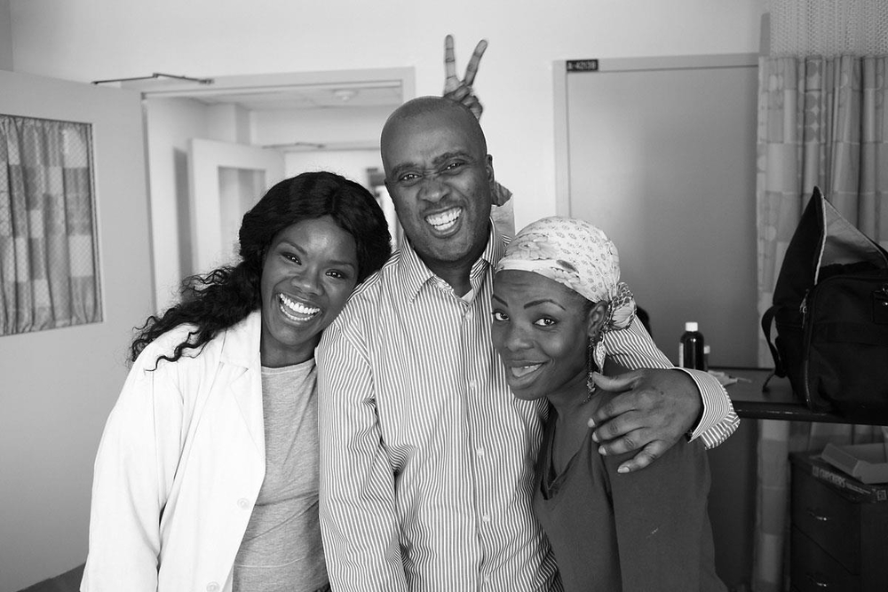 On Set Indelible with Marsha Stephanie Blake and director Randall Dottin