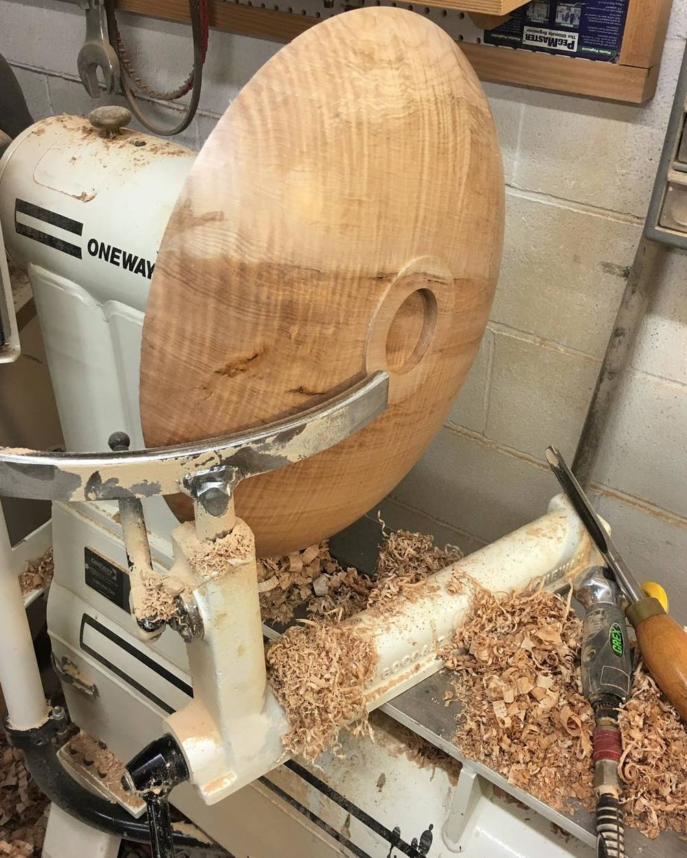 Outside of Bowl No.2 starting to take shape… #giantmaplebowls