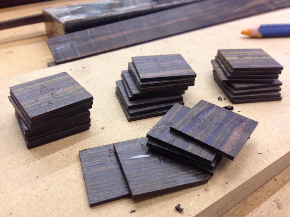 Tiny squares! #cardbox