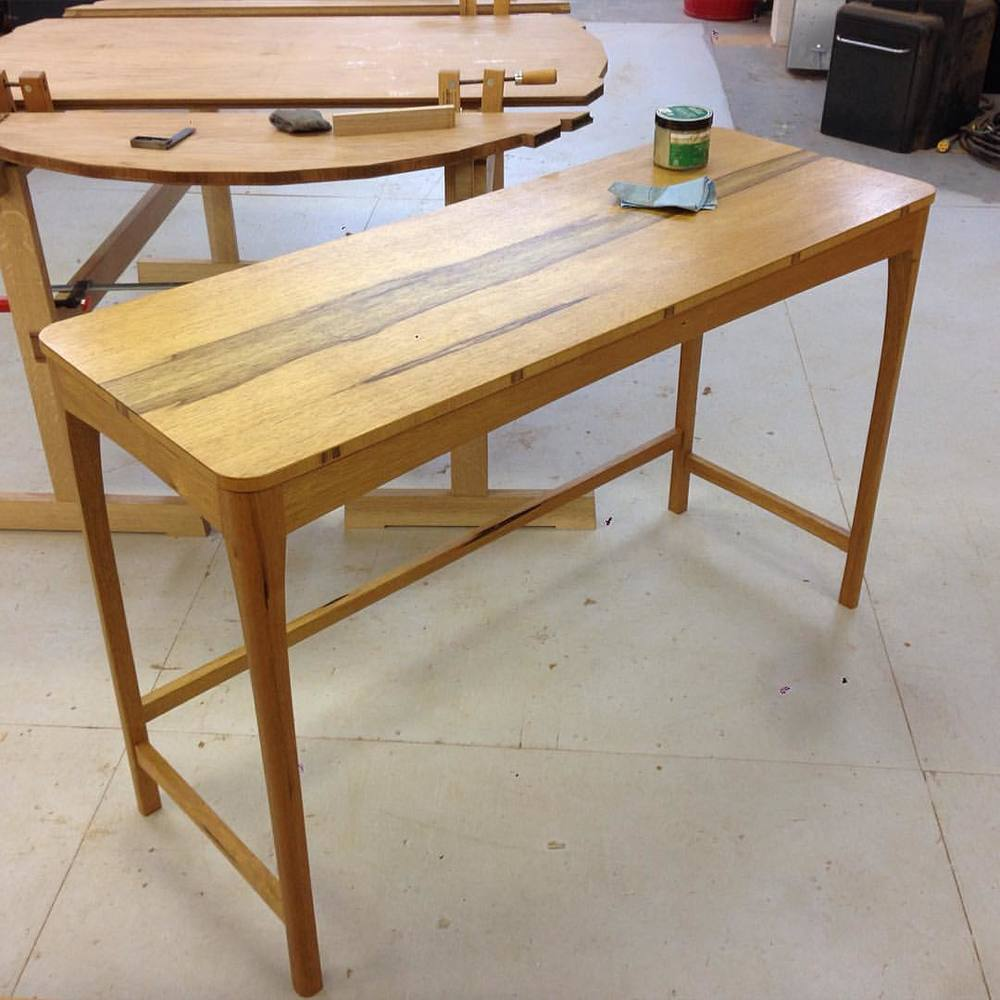 Quick coat of wax, then this little black limbs table is off to San Antonio!
