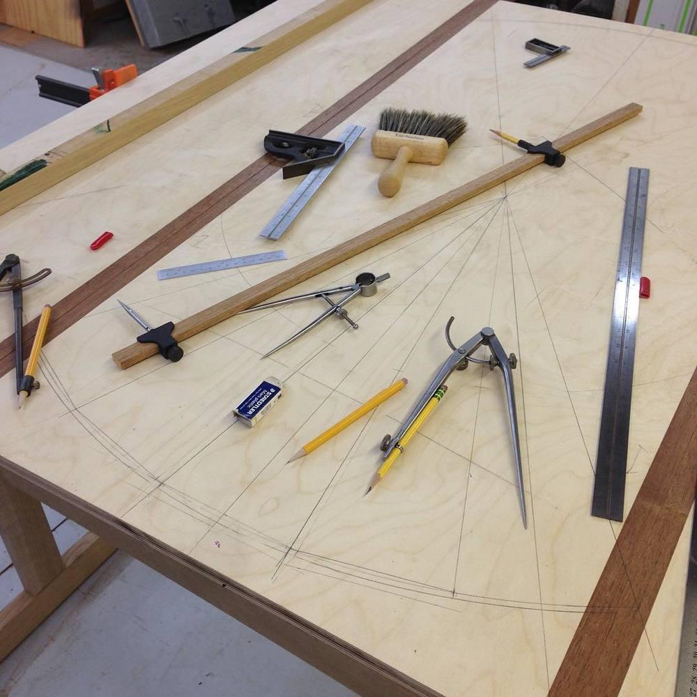 Fancy facet figuring. #letsbuildabreakfasttable #drafting
