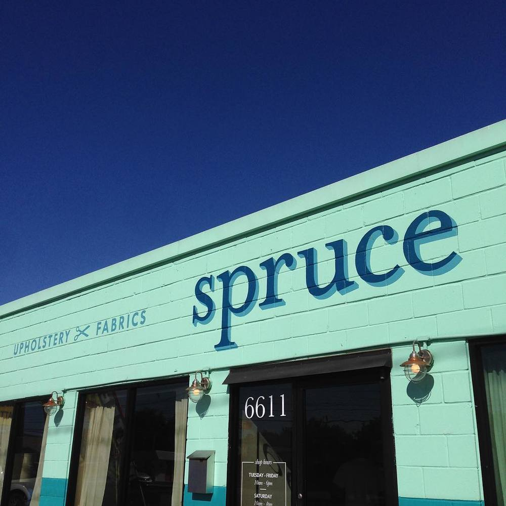 Today turned out to be more of an adventure than I had expected. Thank so much to @spruceathome - yall are awesome. #upholsterymergency (at Spruce Upholstery)