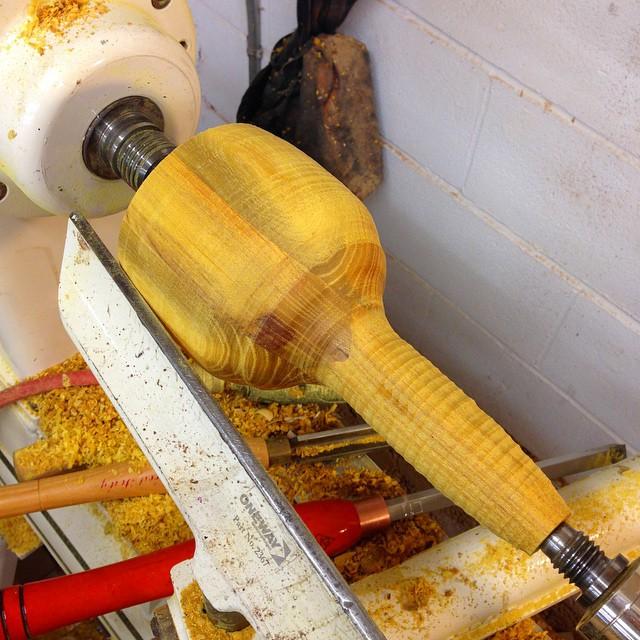 Osage mallet starting to take shape. #carvingmallet