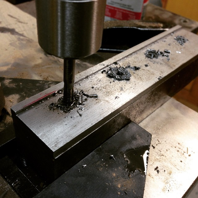 Tappin holes. #makingthethingthatmakesthething #Oliver217