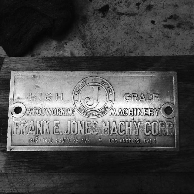 Frank E. Jones Machinery Corporation- High Grade Woodworking Machinery- Los Angeles, California. #quality #service #dependability #Oliver217