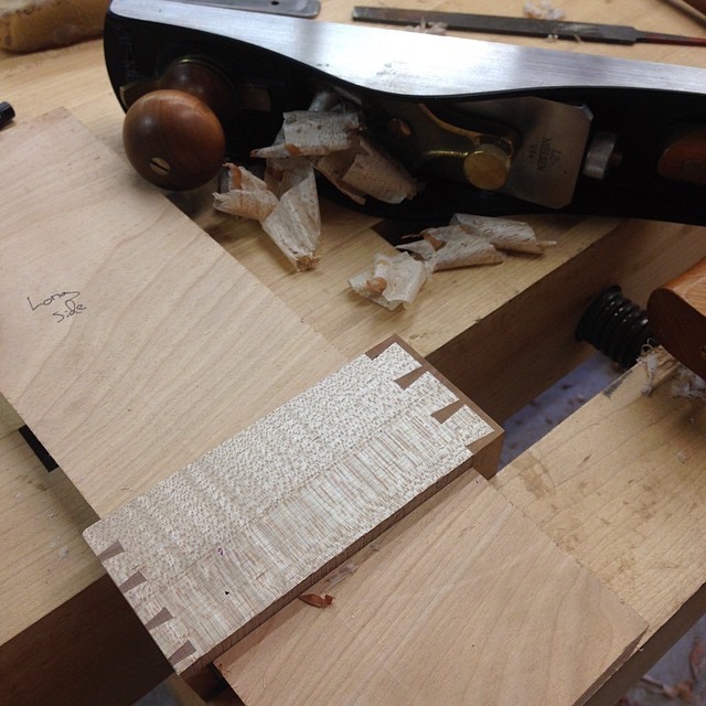 Cleaning up drawer sides! #dovetails #fshome #letsbuildacabinet