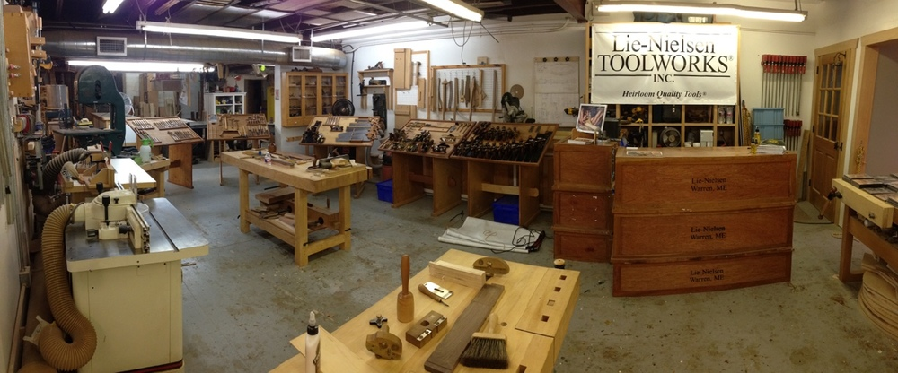 Early morning at the shop, ready for day two of the Hand Tool Event.
