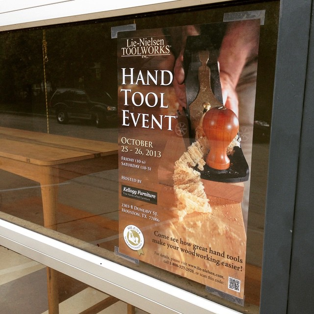 Hey folks- don't forget, this weekend is the @lienielsentoolworks Hand Tool Event here at the shop! Come on down! Check out some cool stuff! Friday and Saturday! Be there! #handtoolevent