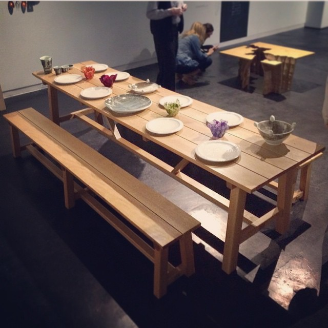 Hey folks- I know this is short notice, but if you are a) a person who likes talking about tables, and b) in Houston, I will be doing an artist panel/talk along with about the Dining & Discourse exhibition at the Houston Center for Contemporary Craft in about half an hour. Come on down! @crafthouston #talking #tables