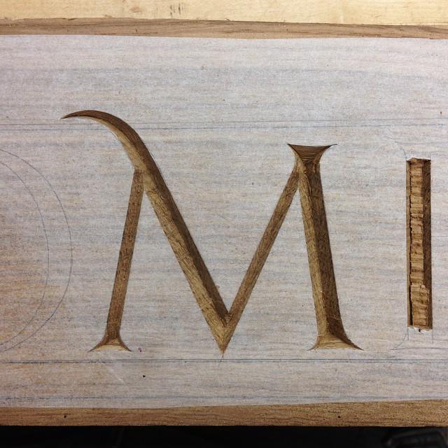 M! #lettercarving