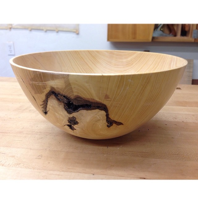 "…and its mate from the other half of the log, 11"" Bowl! #madeinmontrose #emptybowlshou"