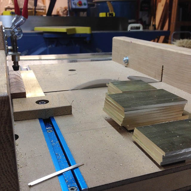 Milling a big stack of brass hold-down tabs. #diningdiscourse