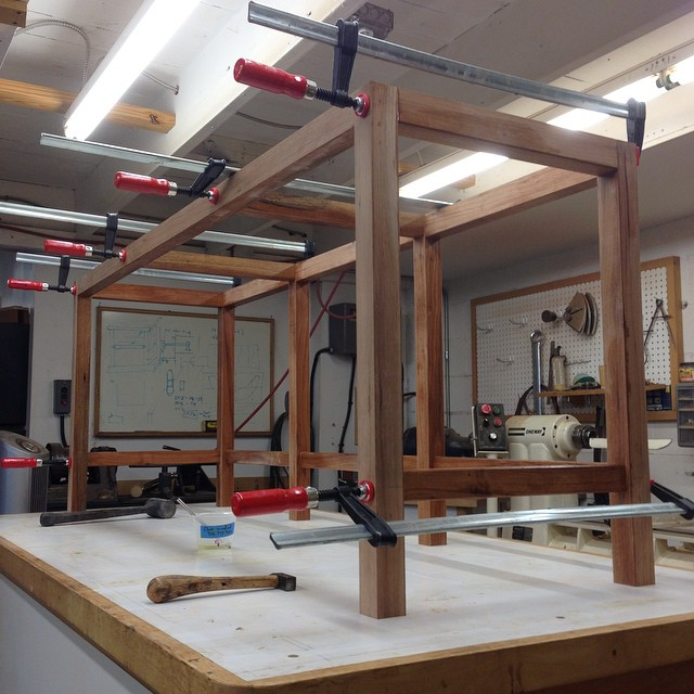 The stand is glued up! #letsmakeadresser