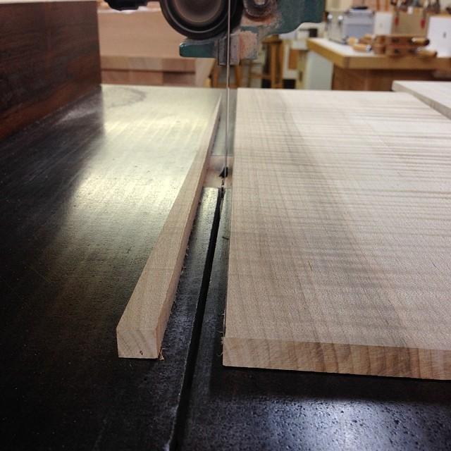 Correcting grain runout on the drawer sides. #letsmakeadresser