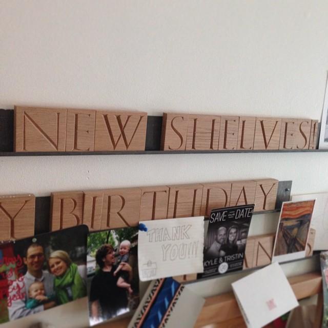 New shelves! #letterblocks #lazysunday