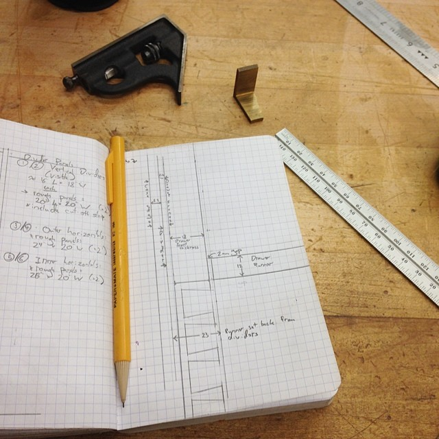 Fancy drawer plans. #drafting #letsmakeadresser