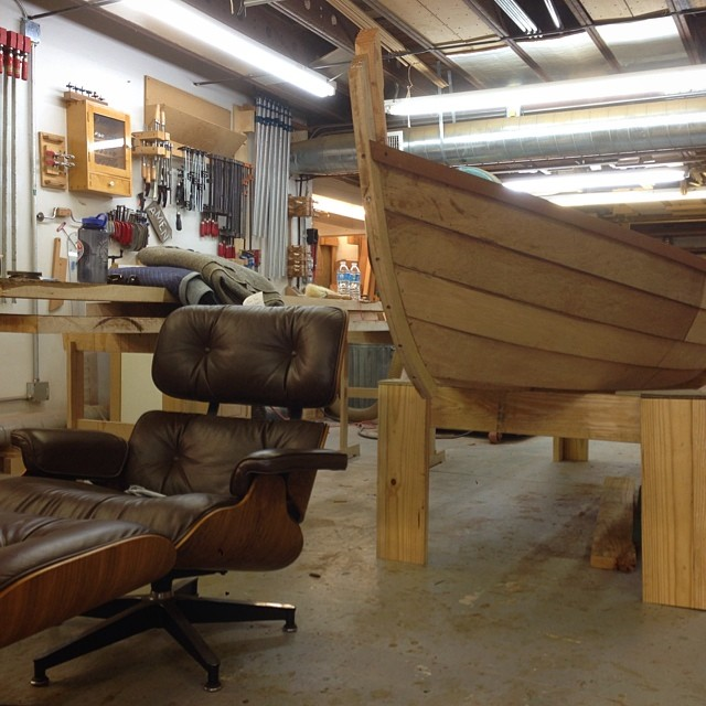 In the shop right now: Eames chair, Viking ship. Every day is an adventure.
