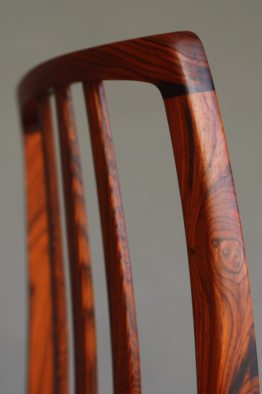 Detail,  Game Chair , Rosewood, 2014.   Didn't actually mean to post this, but as long as it is out there, here we are.     kelloggfurniture.com