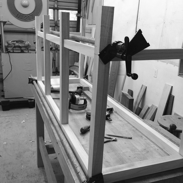 Mockup dresser stand starting to come together. Also, apologies for the needlessly-pretentious black & white filter; this poplar I'm using looks like a wet scab without it. #letsmakeadresser