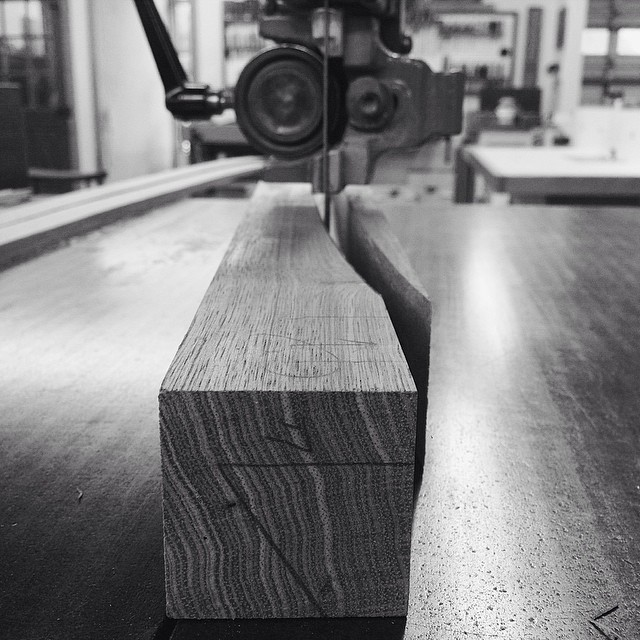 Sawing out one of the legs. #letsmakeadesk