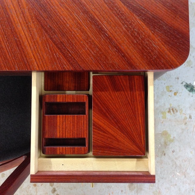 One of four drawers with included card storage box, bidding box, and coaster. #madeinhouston