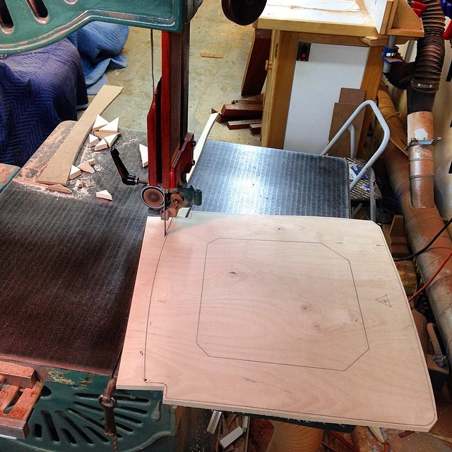 Roughing out seat frames on the bandsaw. #letsmakesomechairs