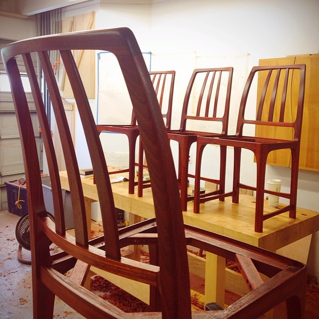 Last coat of oil. #letsmakesomechairs
