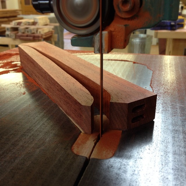 Sawing out the underside curve…
