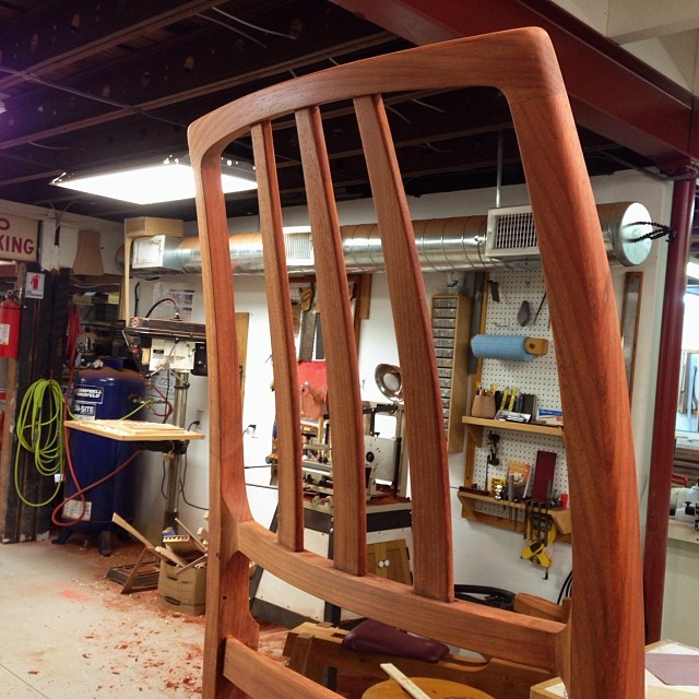 Sanded and detailed chair back. One down, three to go. #letsmakesomechairs