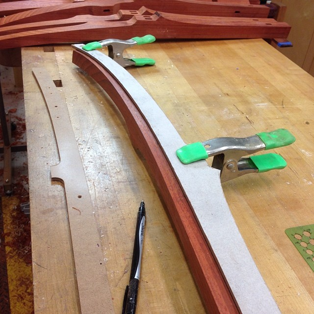 Laying out the tapered roundovers on one of the legs. #letsmakesomechairs