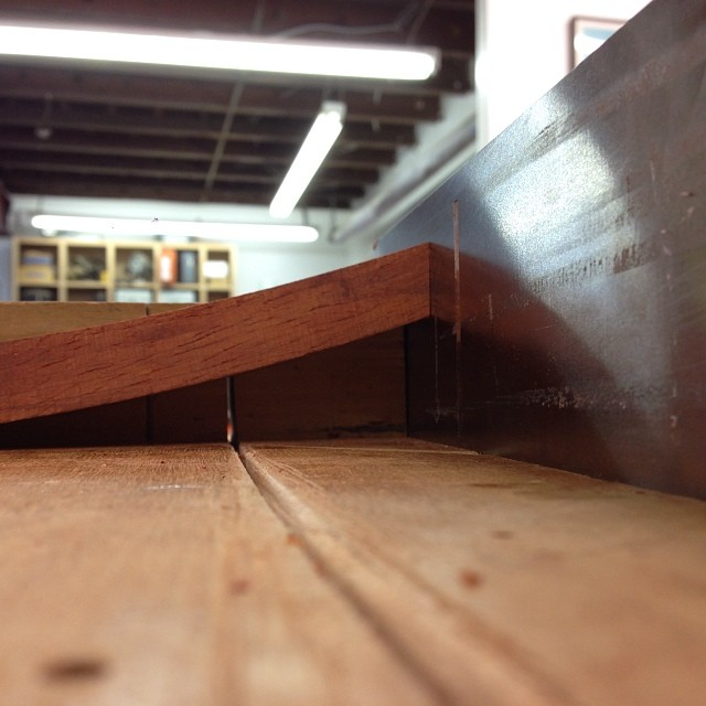 Shooting the ends of one of the bent-laminated lumbar rails. #letsmakesomechairs