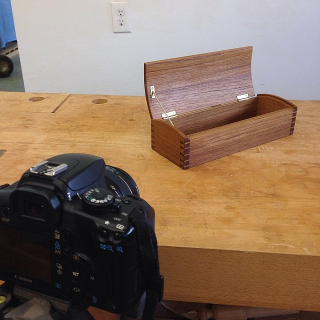 """Excited to finally take some """"proper"""" pictures of the little teak box from a few months ago."""