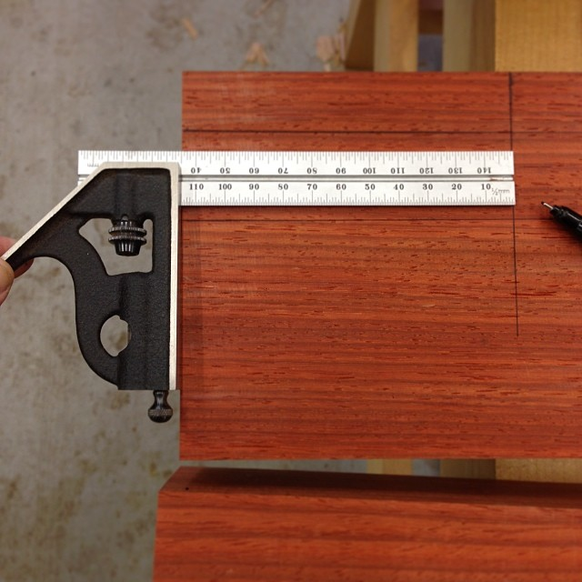 150mm combination square is going hard for my new favoritest measuring tool. #Starrett #MadeinUSA