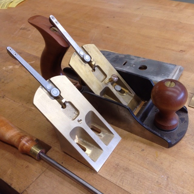 *meanwhile*… I'm excited to finally retrofit my old Lie-Nielsen No.4-½ smoother with a high angle/55° frog. The plan is to still use my wooden smoothers for most everything, but this should be good for extra-fussy grain.