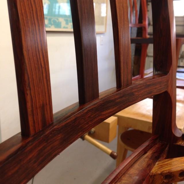Second coat of oil on the chairs…