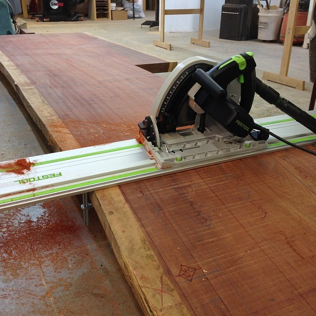 Not going to lie: the Festool track saw is pretty much the coolest thing ever.