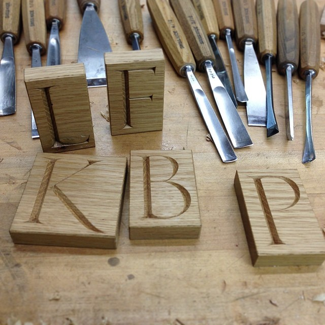 Letterblocks! Get yours here! =>  www.kelloggfurniture.com/products  #lettercarving