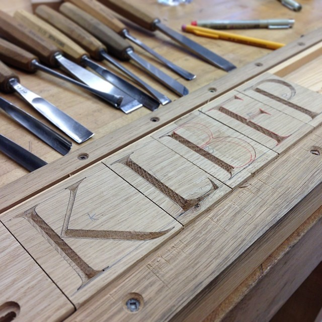Excited to be carving a new set of letterblocks! #madeinhouston #blatantproductplacement