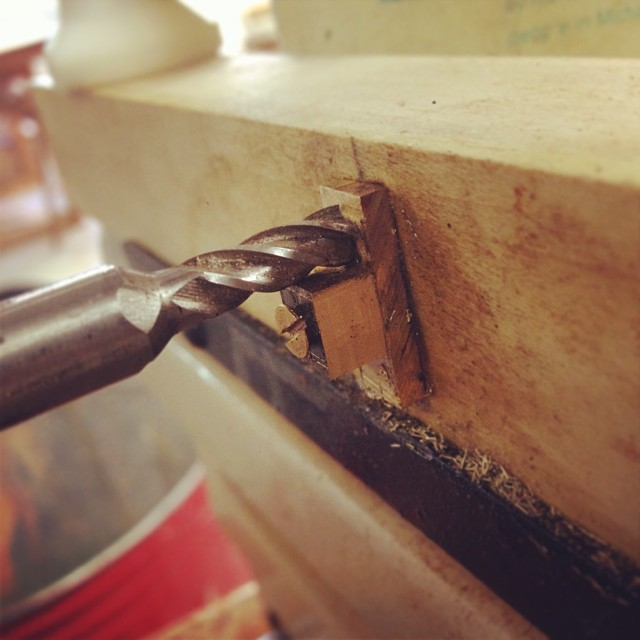 Machining the brass cord - standoff on the Multirouter. (#latergram from yesterday.) #letsmakeabox