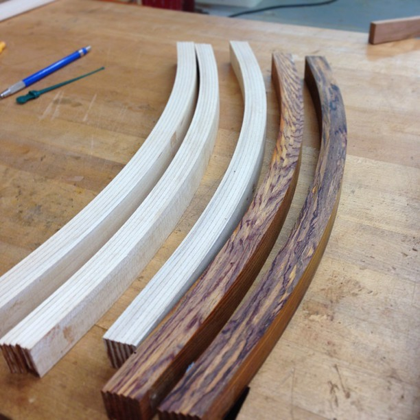 Bent-laminated lumbar rails. I'm not going to lie: these kind of make me hungry for ribs.