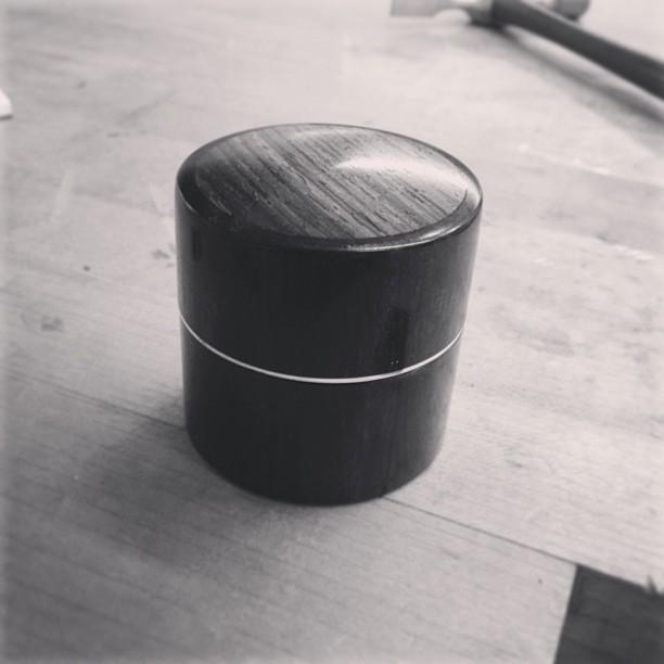 Tiny box! Ebony, cocobolo, silver plate. #MadeInHouston