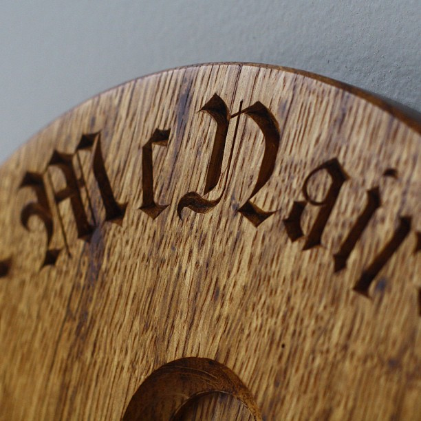 (Finally) uploaded some pictures of the altar plaque from earlier this spring. Have a look if you get a minute… => Kelloggfurniture.com/work #lettercarving