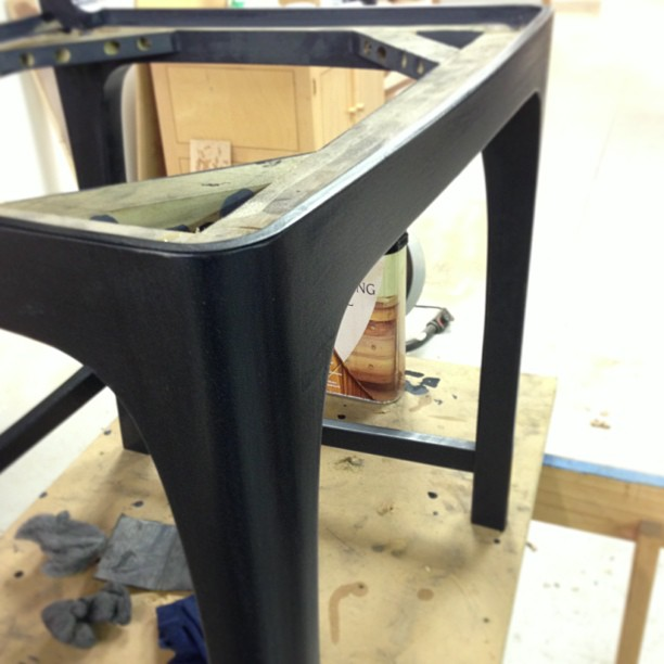 """Second coat of oil. """"How much more black could it be? None. None more black."""""""