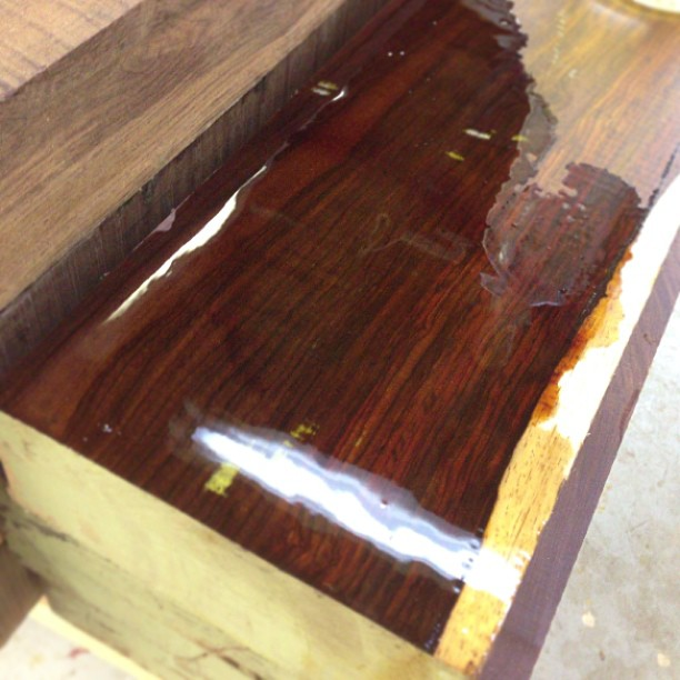 Party pic from today's lumber run. #cocobolo #nofilter