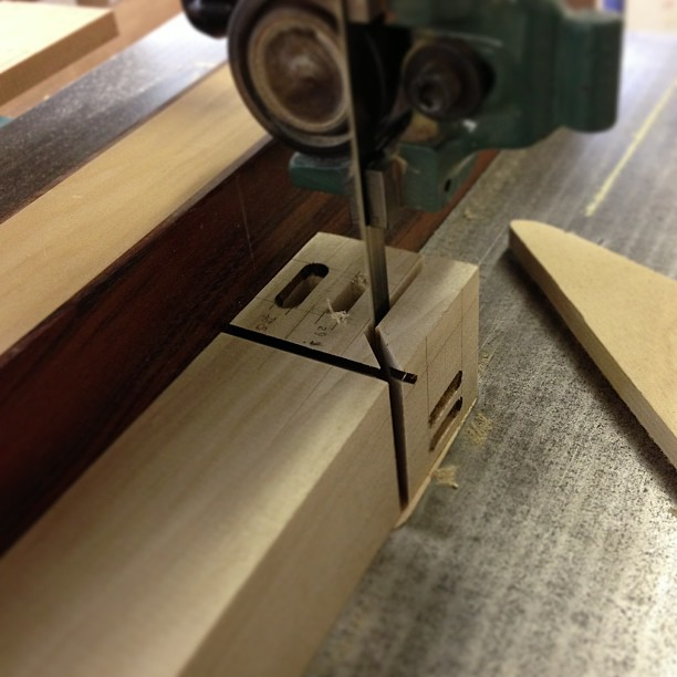 Sawing the joint-faces off the legs.