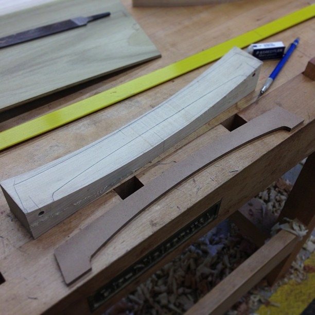 Laying out the *other* crest rail curve.