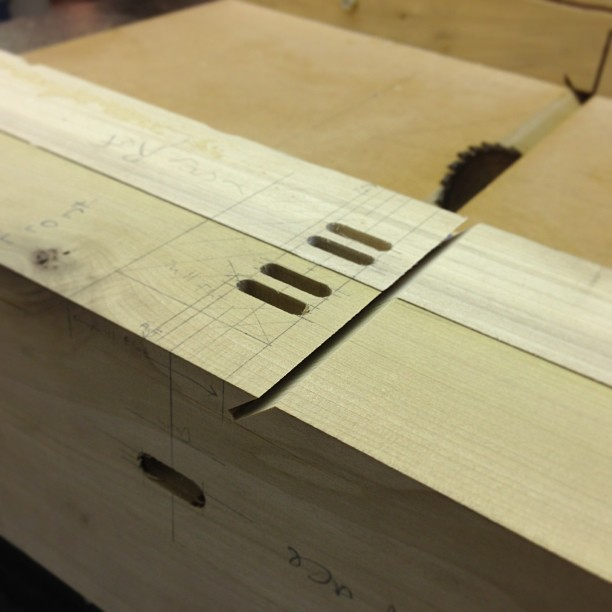 Crosscutting some Barnsley miters.