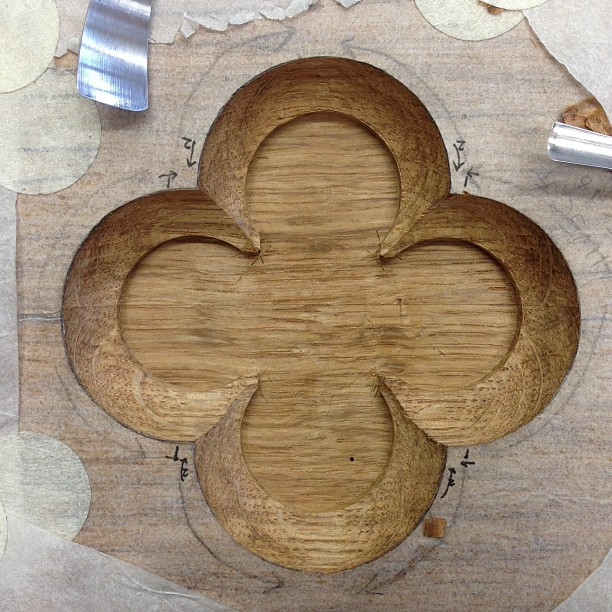 Quatrefoil is dinished. I'm excited to see what it will look like with some oil on it…